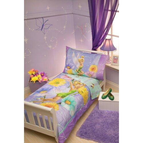 Disney baby bedding tinkerbell garden treasures 4 piece toddler
