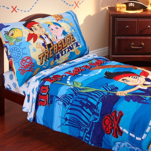 Jake and the Neverland Pirates 4 Piece Toddler Bedding Set
