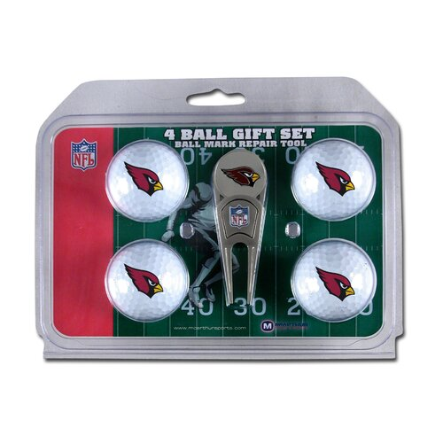McArthur Towels NFL Divot Tool and 4 Golf Ball Gift Set
