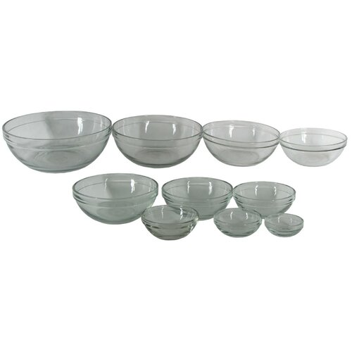 10 Piece Glass Mixing Bowl Set