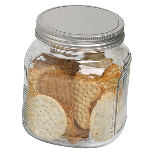 Anchor Hocking 32 oz Cracker Jar with Aluminum Lid