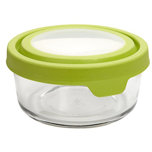 2 Cup Round TrueSeal Glass Storage Container