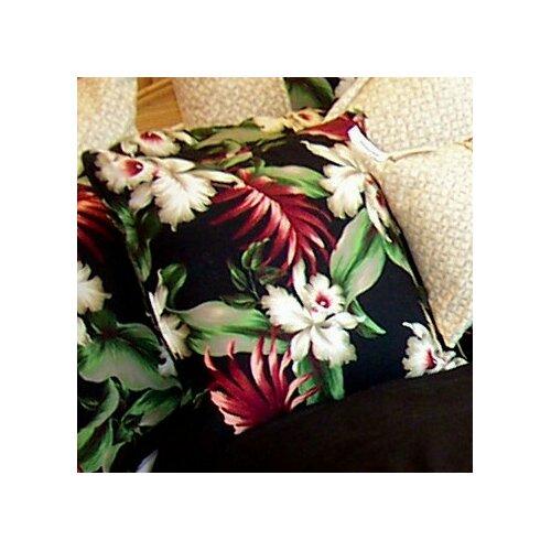 Hanalei Home Orchids Cotton Pillow