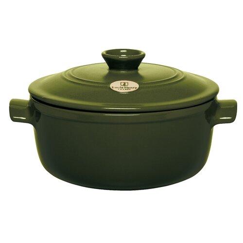 Emile Henry Red 4.2-qt. Ceramic Round Dutch Oven