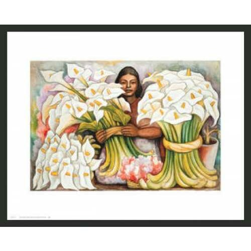 Frames By Mail Rivera Vendedora El Alcatraces Framed Painting Print