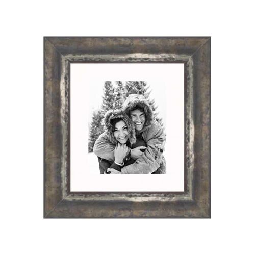 """Frames By Mail 20"""" x 24"""" Frame in Black and Moss Silver"""