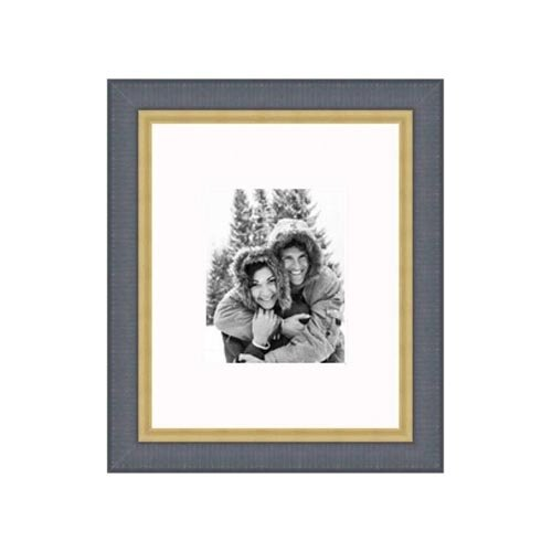 """Frames By Mail 16"""" x 20"""" Traditional Frame in Black with Gold Lip"""