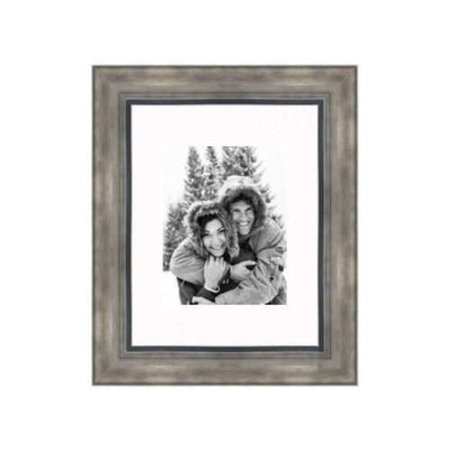 "Frames By Mail 11"" x 14"" Hammered Frame in Smokey Silver"