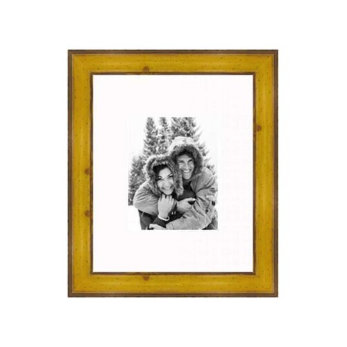 "Frames By Mail 16"" x 20"" Rustic Pitted Pine Frame in Yellow"