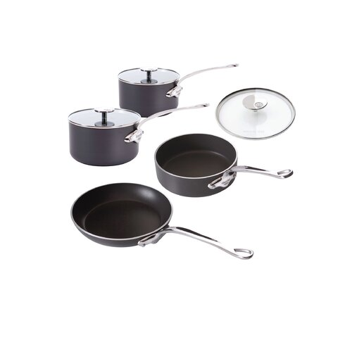 M'Stone 7-Piece Cookware Set with Glass Lids