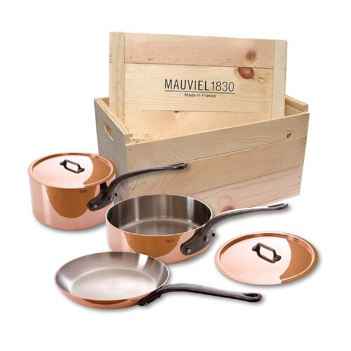 Mauviel M'Heritage Stainless Steel 5-Piece Cookware Set with Crate