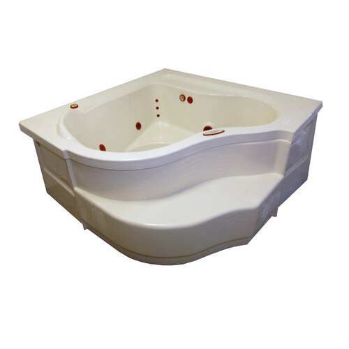 "American Acrylic 60"" x 60"" Deep Corner Air Tub"
