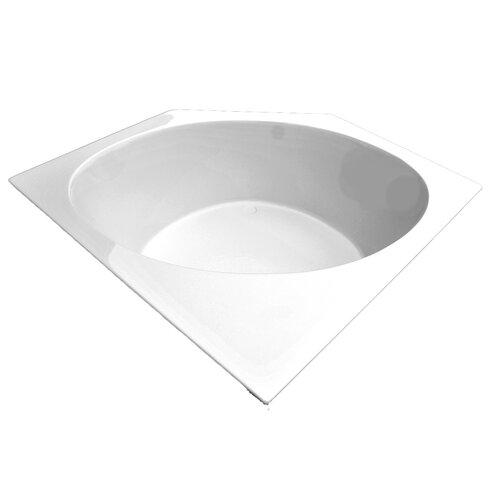 "American Acrylic 60"" x 60"" Soaker Corner Bathtub"