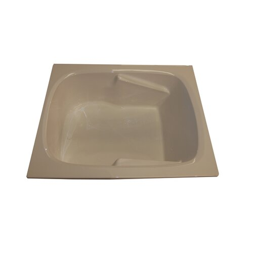 """American Acrylic 60"""" x 48"""" Soaker Arm-Rest Bathtub"""
