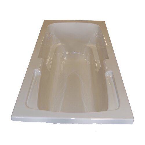 "American Acrylic 60"" x 32"" Soaker Arm-Rest Bathtub"