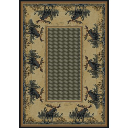 Hautman Brothers Rugs Hautman Northwood Moose Novelty Rug