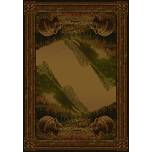 Hautman Brothers Rugs Hautman Grizzly Mountain Lodge Novelty Rug