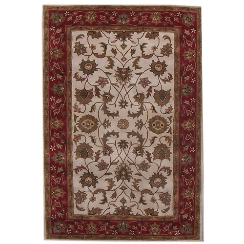 Acura Rugs Aaryan Cream/Red Rug