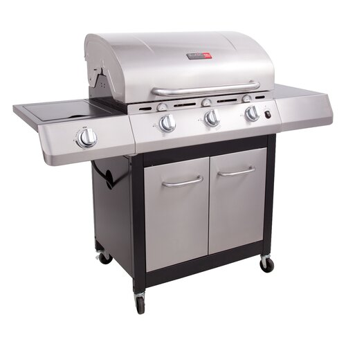 Char-Broil Performance 3 Burner TRU-Infrared Gas Grill with Side Burner and Cabinet