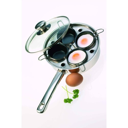 Demeyere Resto 1.5-Quart Egg Poacher / Gourmet Pan (4 small inserts)