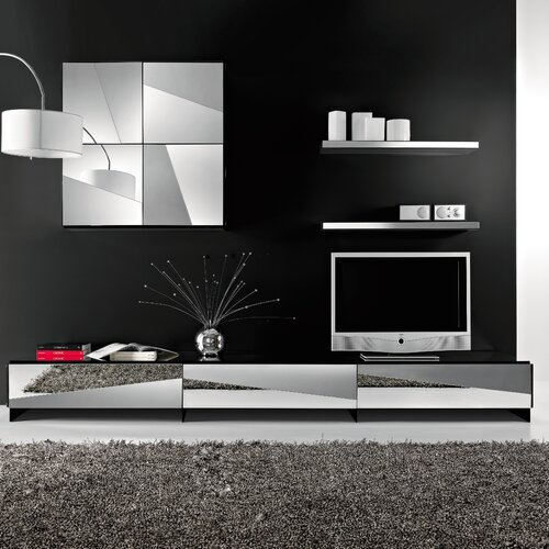 Tonelli Design Psiche TV Stand with Glass Top