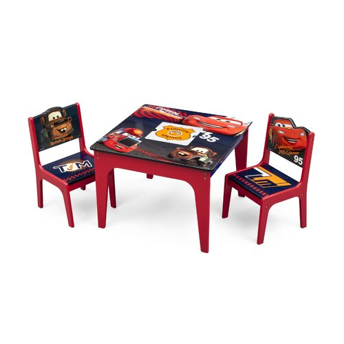 Cars Kids 3 Piece Table And Chair Set Wayfair Supply