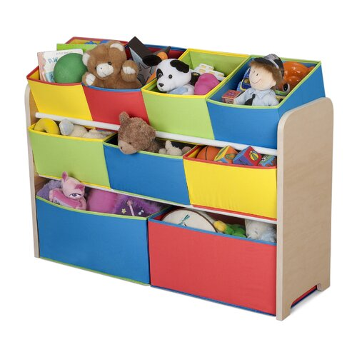 Multi-Color Deluxe Toy Organizer with Bins