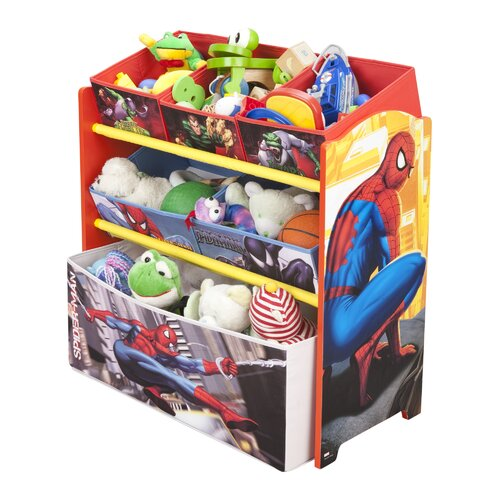 Delta Children Spiderman Multi Bin Toy Organizer