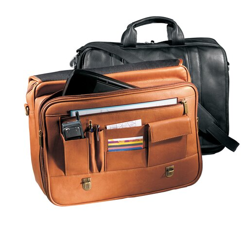 Vaqueta Napa Statesman Leather Laptop Briefcase