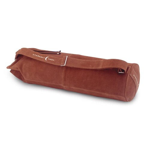 Crescent Moon Premium Carryall Yoga Bag in Natural Suede