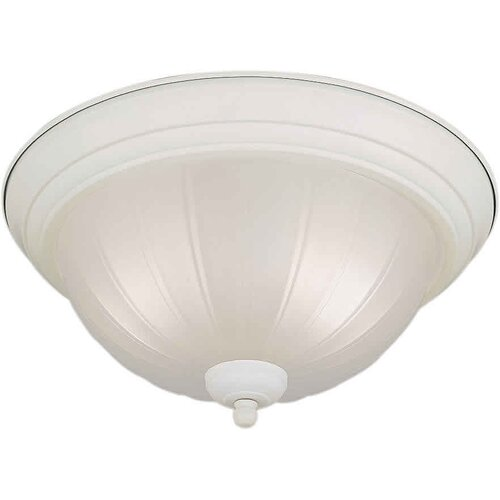 "Forte Lighting 11.25"" 2 Light Flush Mount"