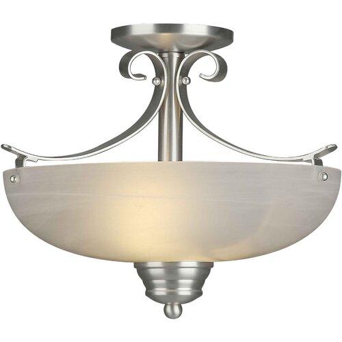 Forte Lighting 2 Light Semi Flush Mount