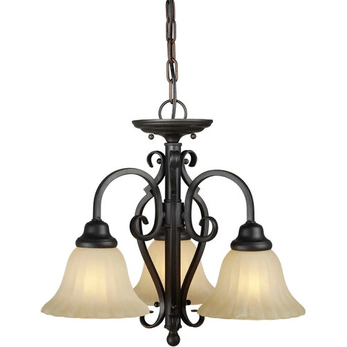 Forte Lighting 3 Light Chandelier