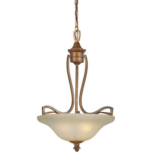 Forte Lighting 3 Light Bowl Inverted Pendant