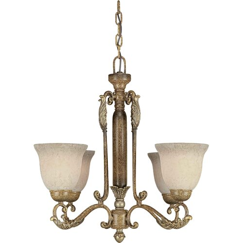 Forte Lighting 4 Light Chandelier