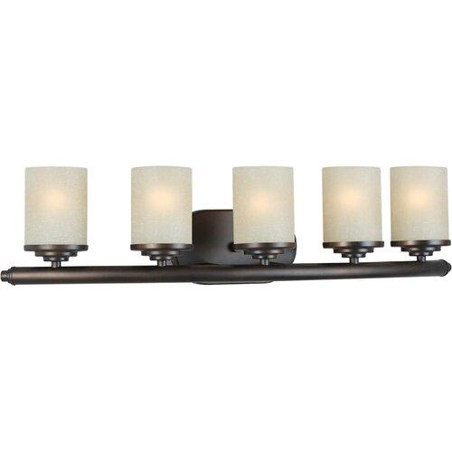 Forte Lighting 5 Light Bathroom Vanity Light In Brushed Nickel 5105 05 55: Forte Lighting 5 Light Vanity Light & Reviews