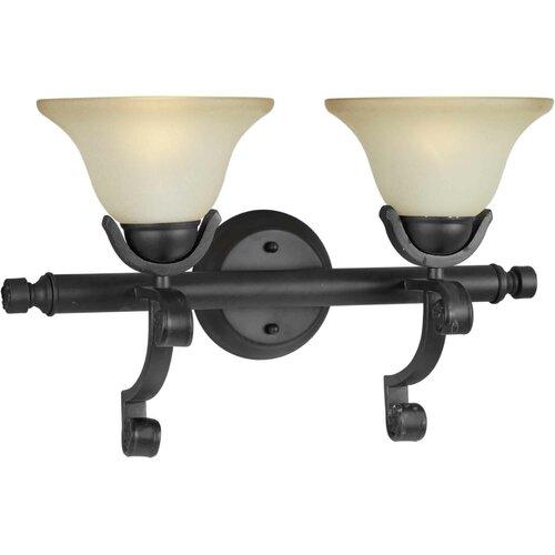 Forte Lighting 2 Light Bath Vanity Light