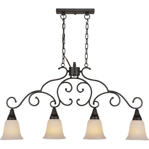 Forte Lighting 4 Light Kitchen Island Pendant