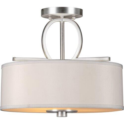 Forte Lighting 3 Light Semi-Flush Mount