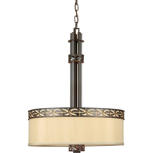 Forte Lighting 4 Light Drum Pendant