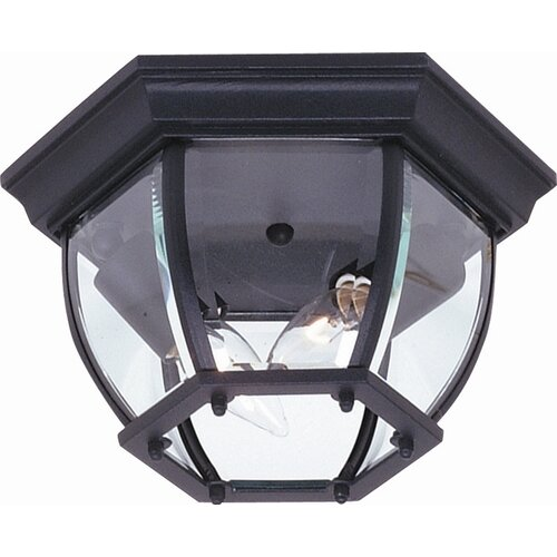 Artcraft Lighting Classico 2 Light Outdoor Hexagonal Flush Mount