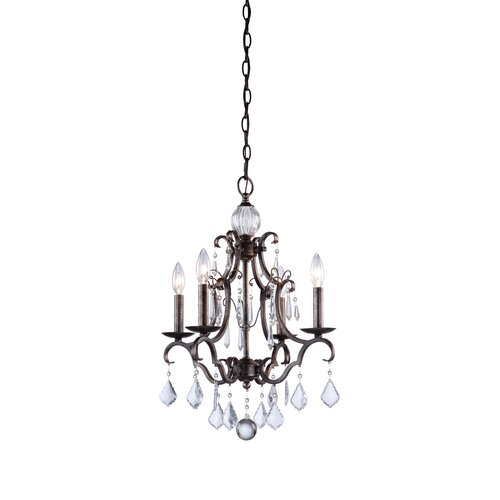 Artcraft Lighting Vintage 4 Light Chandelier
