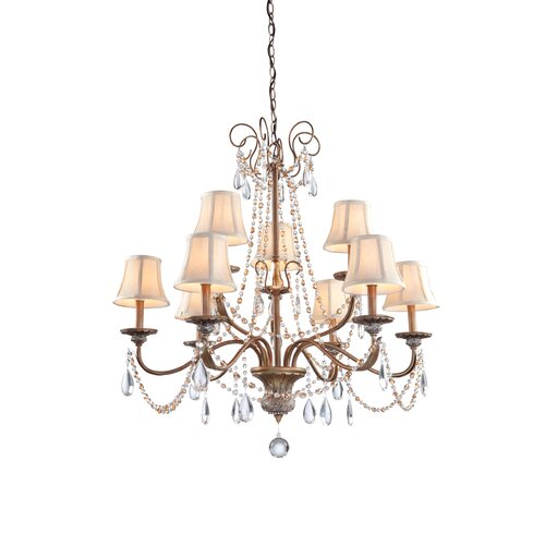 Artcraft Lighting Teardrop 9 Light Chandelier