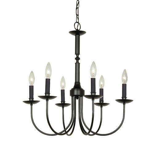 Artcraft Lighting Pot Racks 6 Light Chandelier