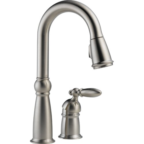 Delta Victorian Single Handle Widespread Bar/Prep Sink Faucet with Diamond Seal Technology