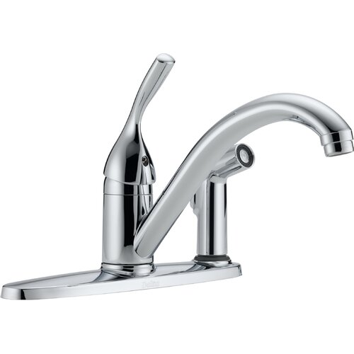Classic Side Spray 3-Hole Installation Kitchen Faucet with Diamond Seal Technology