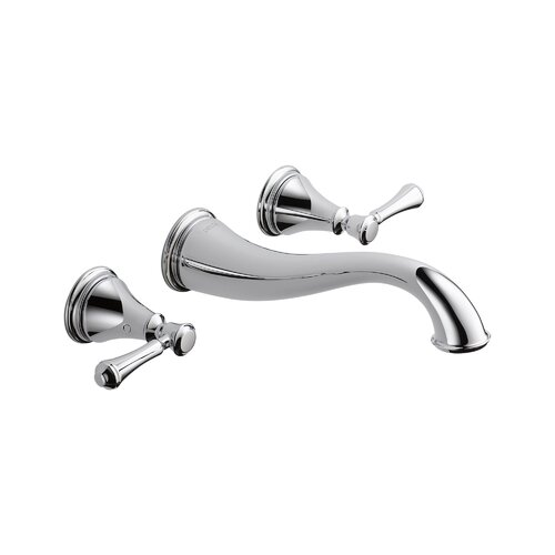Cassidy Double Handle Wall Mount Bathroom Faucet