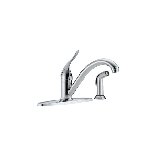 Single Handle Centerset Kitchen Faucet with Spray