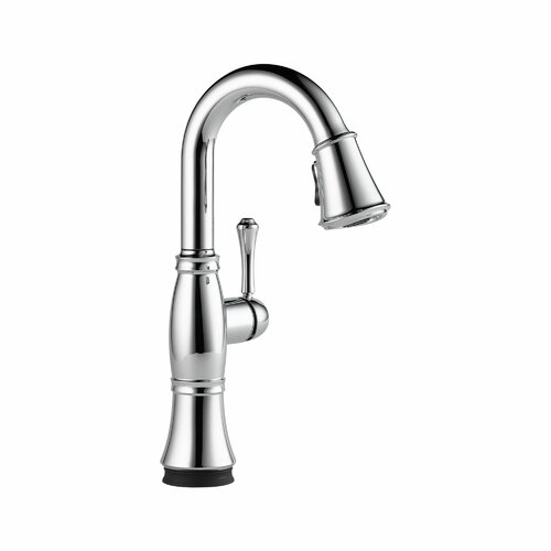 Delta Cassidy Single Handle Pull-Down Single Hole Bar Faucet with Touch2O Technology
