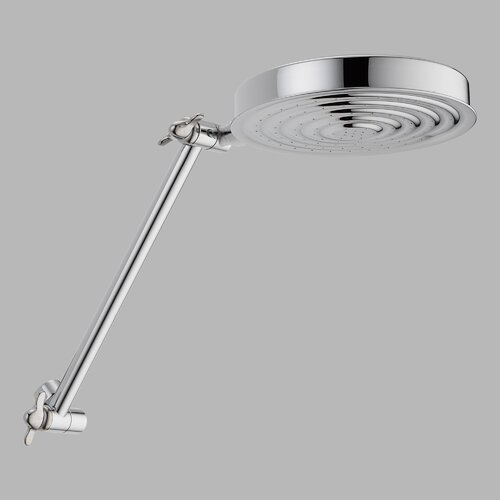 "Delta 6-19/64"" Rain Shower Head with Adjustable Arm"